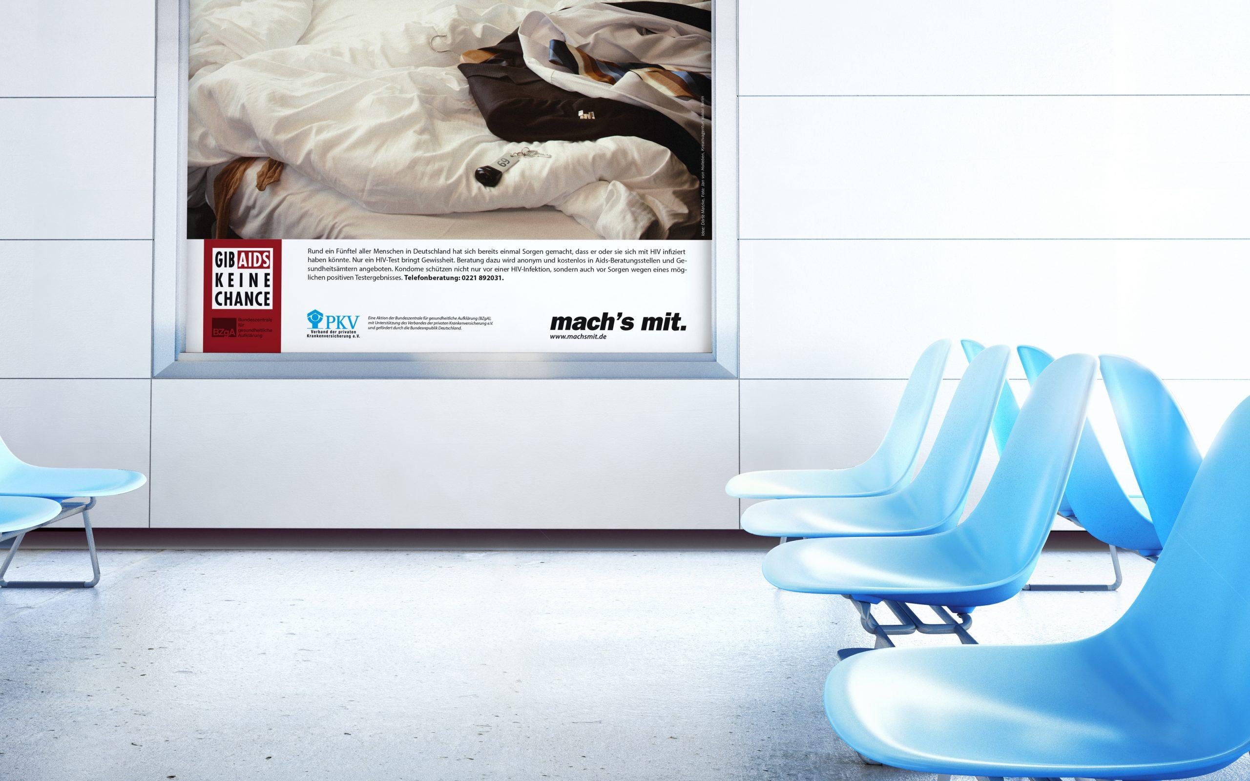 Gib Aids keine Chance: Marken-Relaunch von Bosbach, Key Visual mit Kampagnenmotiv