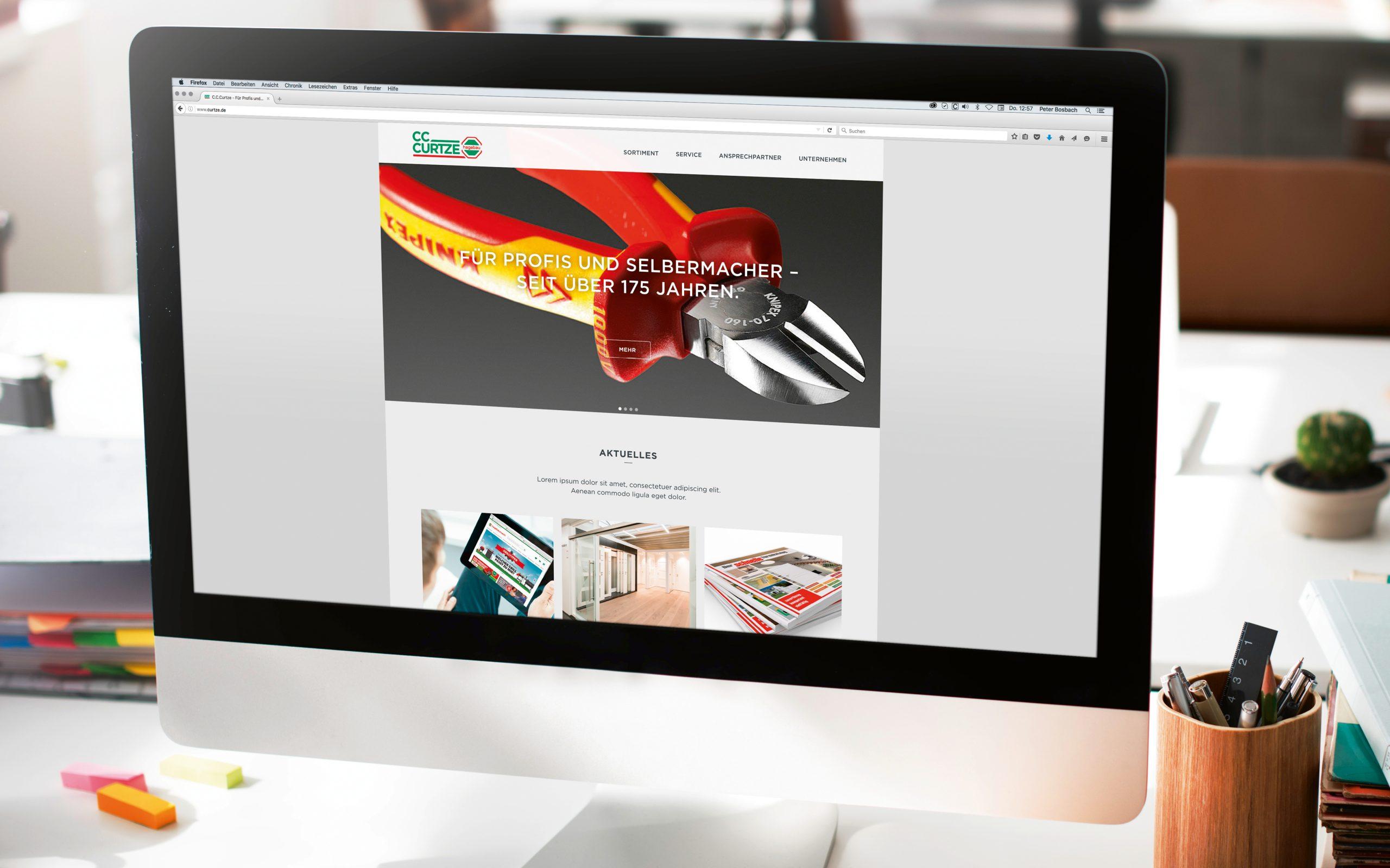C.C. Curtze (Hagebau): Webdesign und WordPress-Programmierung von Bosbach