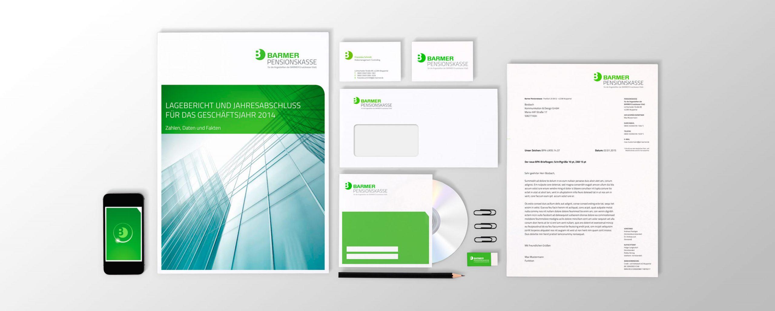 Barmer Pensionskasse: Corporate Design-Entwicklung von Bosbach