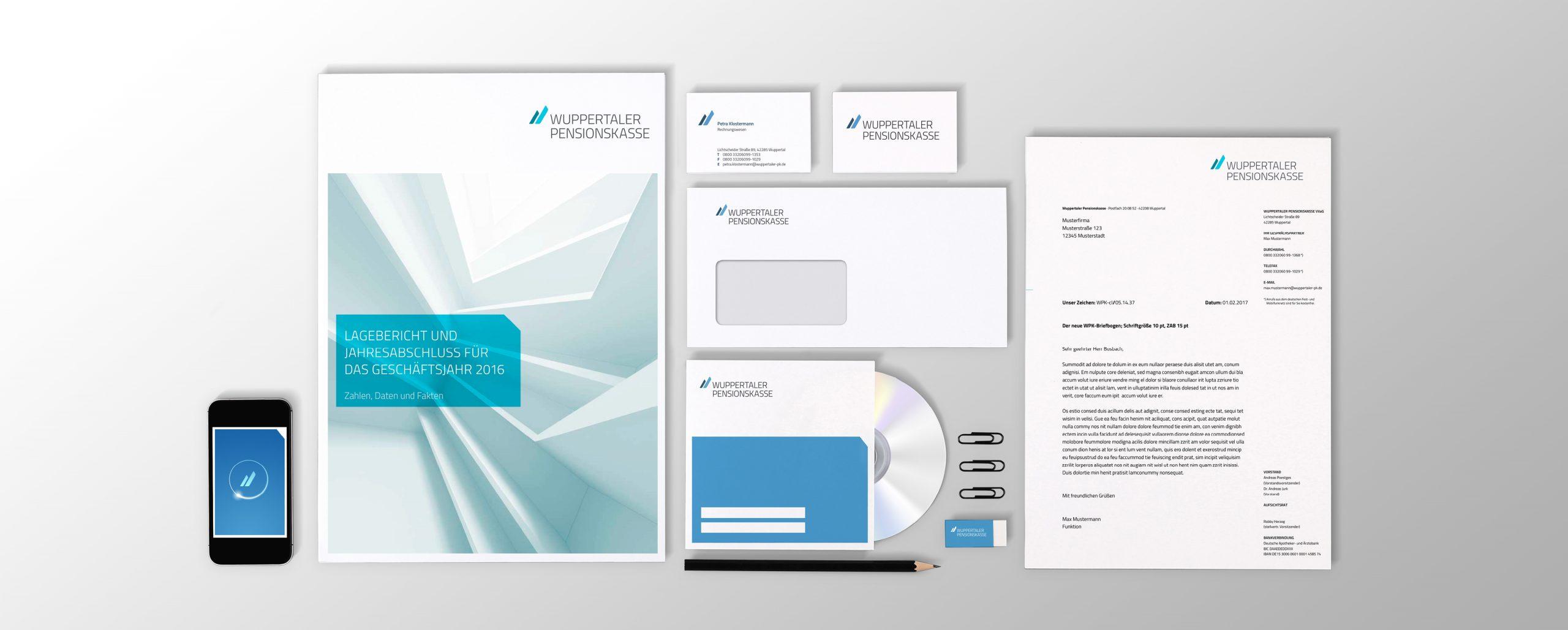 Wuppertaler Pensionskasse: Corporate Design-Entwicklung von Bosbach