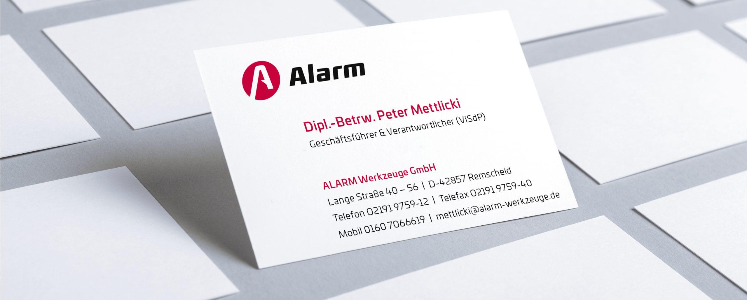 Alarm Werkzeuge: Corporate Design-Entwicklung von Bosbach, Geschäftsdrucksachen-Design