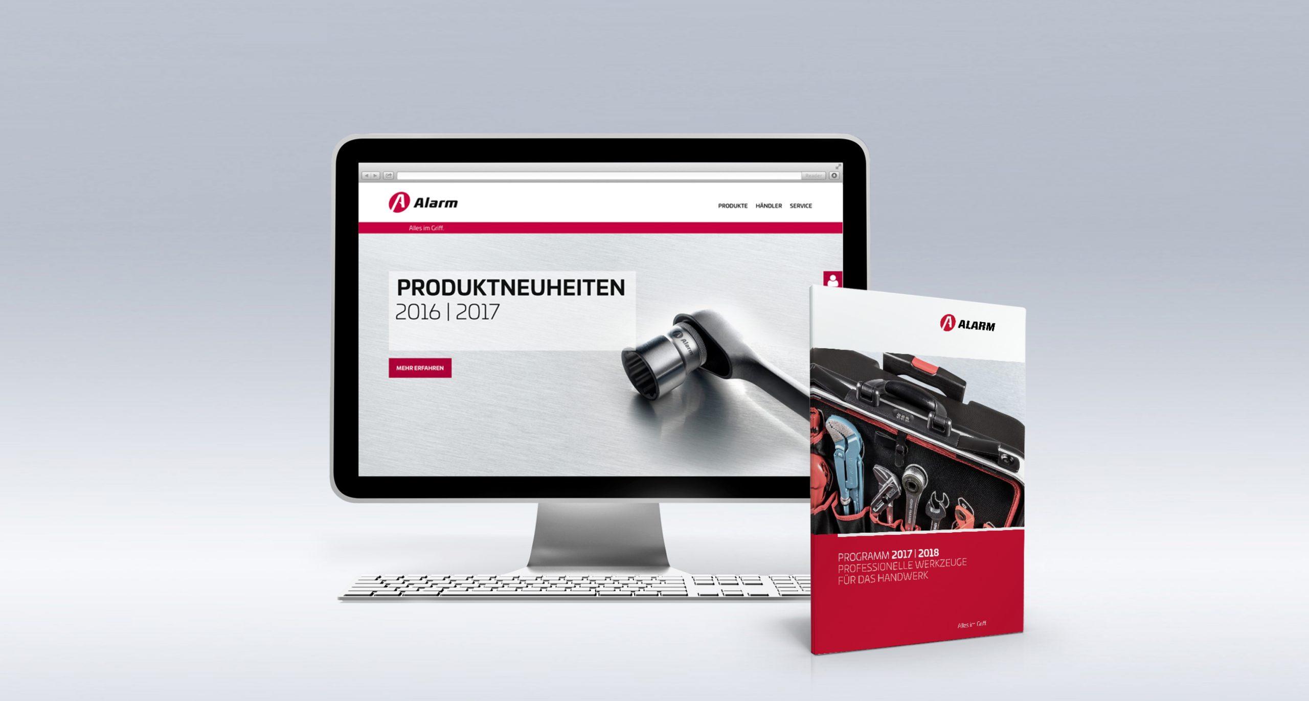 Alarm Werkzeuge: Web-Relaunch von Bosbach, Webdesign, Katalogdesign