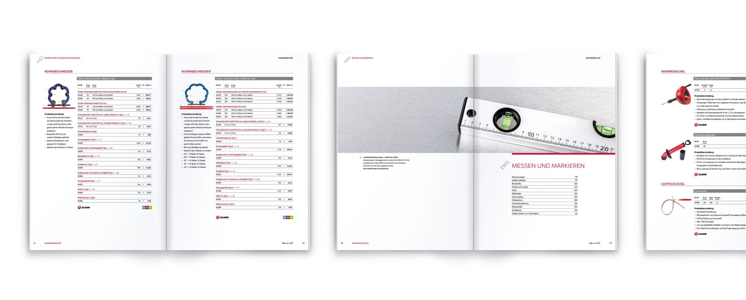 Alarm Werkzeuge: Katalog-Design von Bosbach