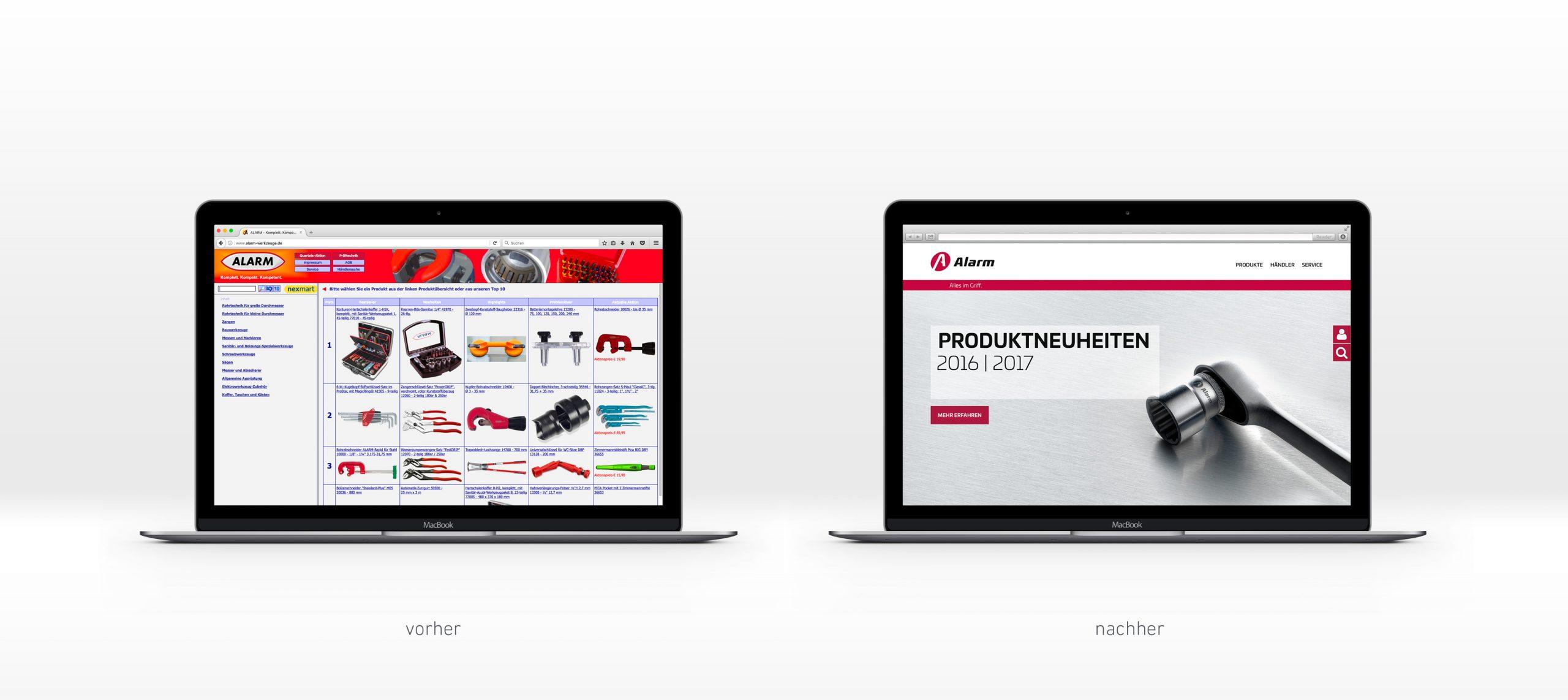 Alarm Werkzeuge: Web-Relaunch von Bosbach
