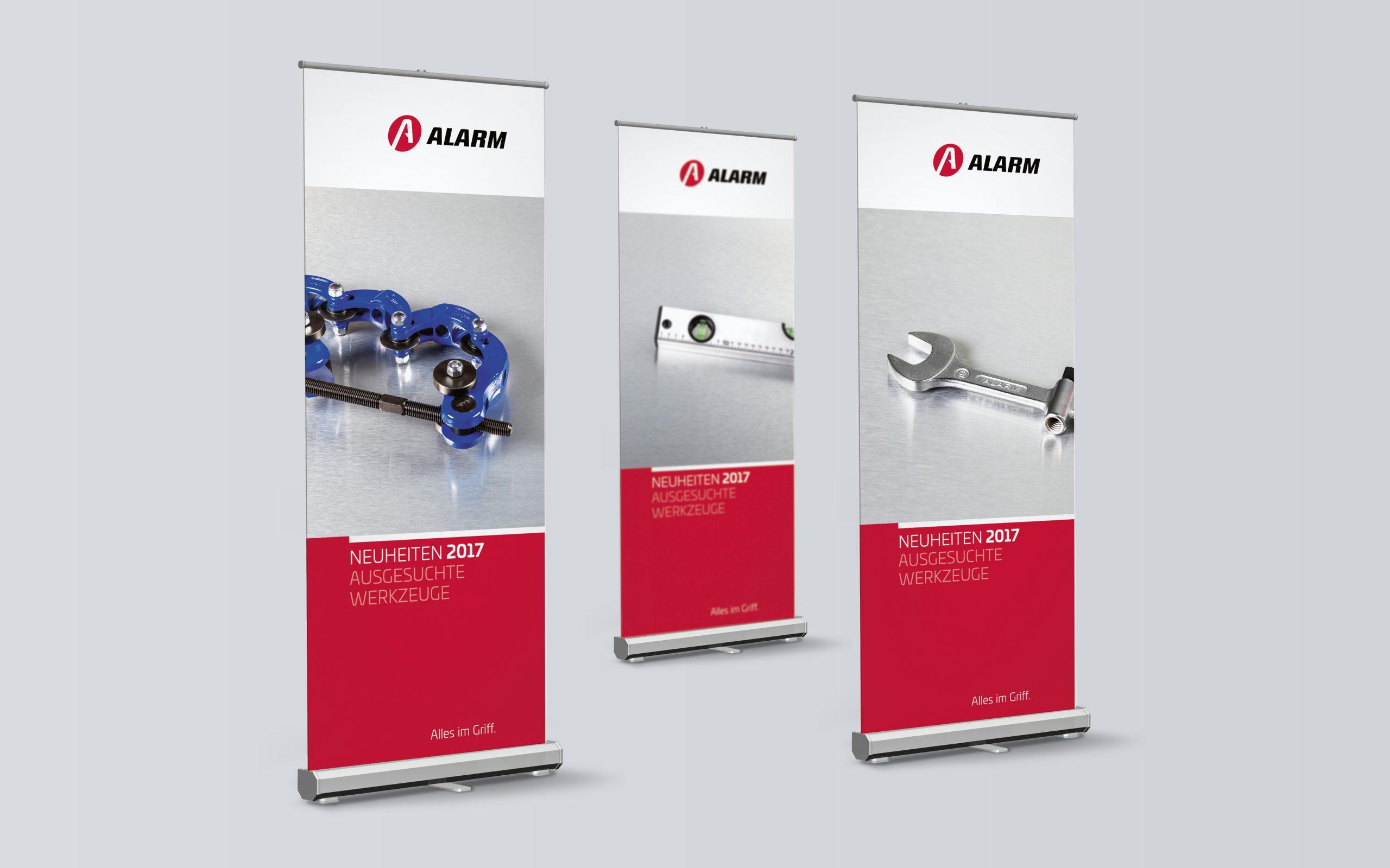 Alarm Werkzeuge: Corporate Design von Bosbach, Bannerdesign