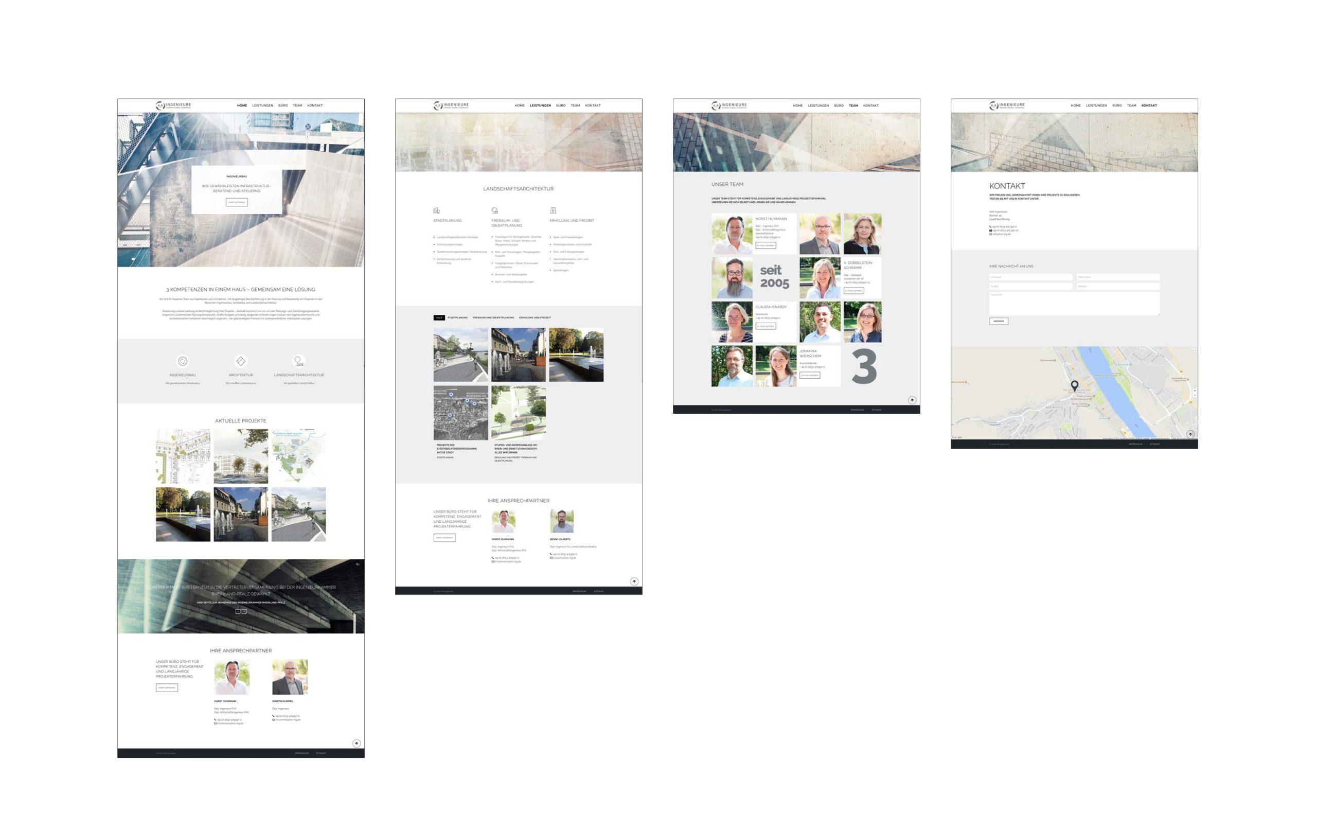 H2R-Ingenieure: Web-Relaunch von Bosbach, Contentseiten