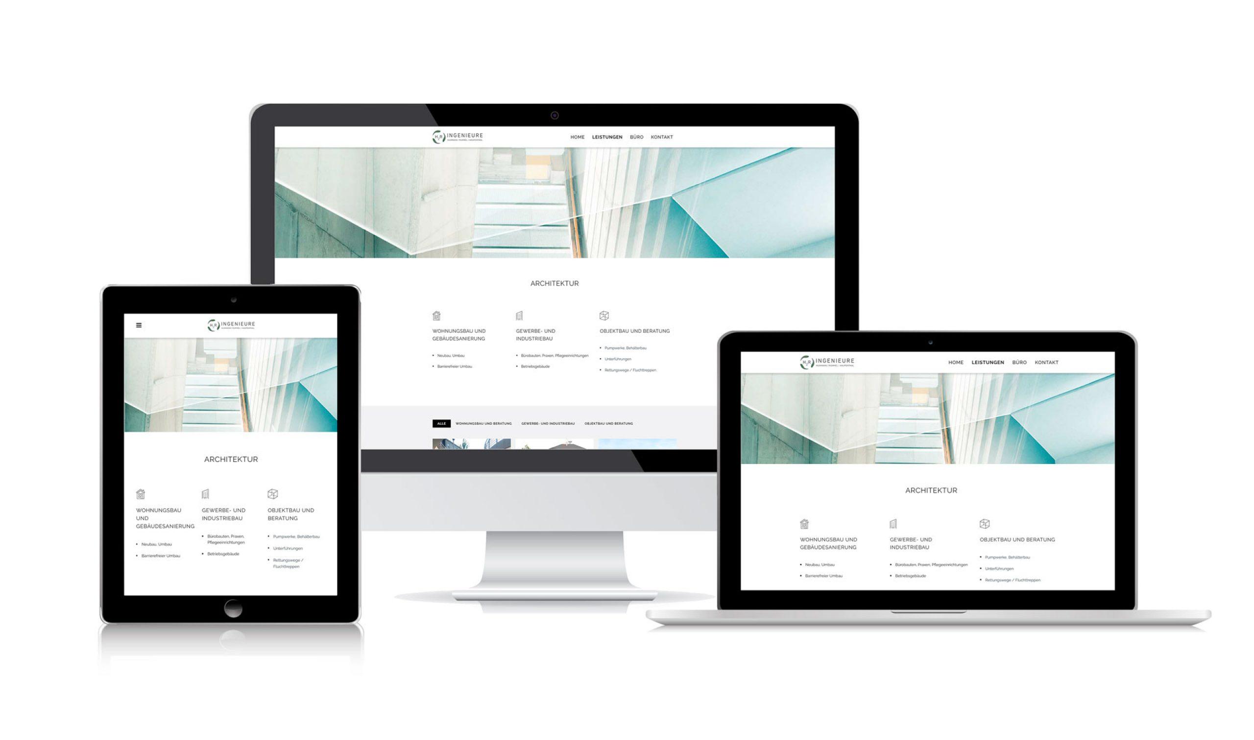 H2R-Ingenieure: Web-Relaunch von Bosbach, Geraeteansichten