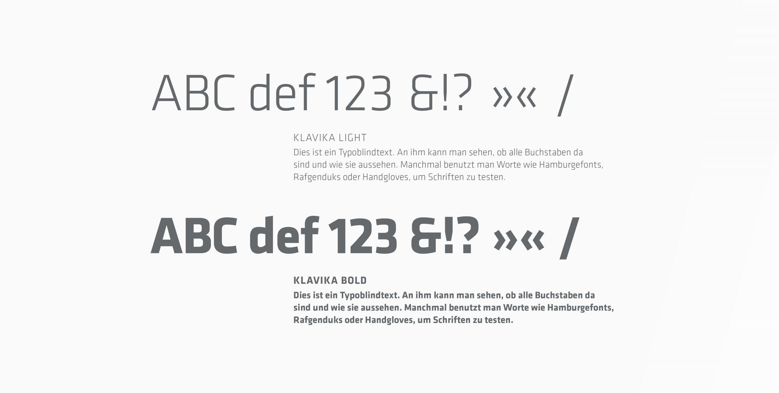 Philips Pensionskasse: CD-Entwicklung von Bosbach, Typografie