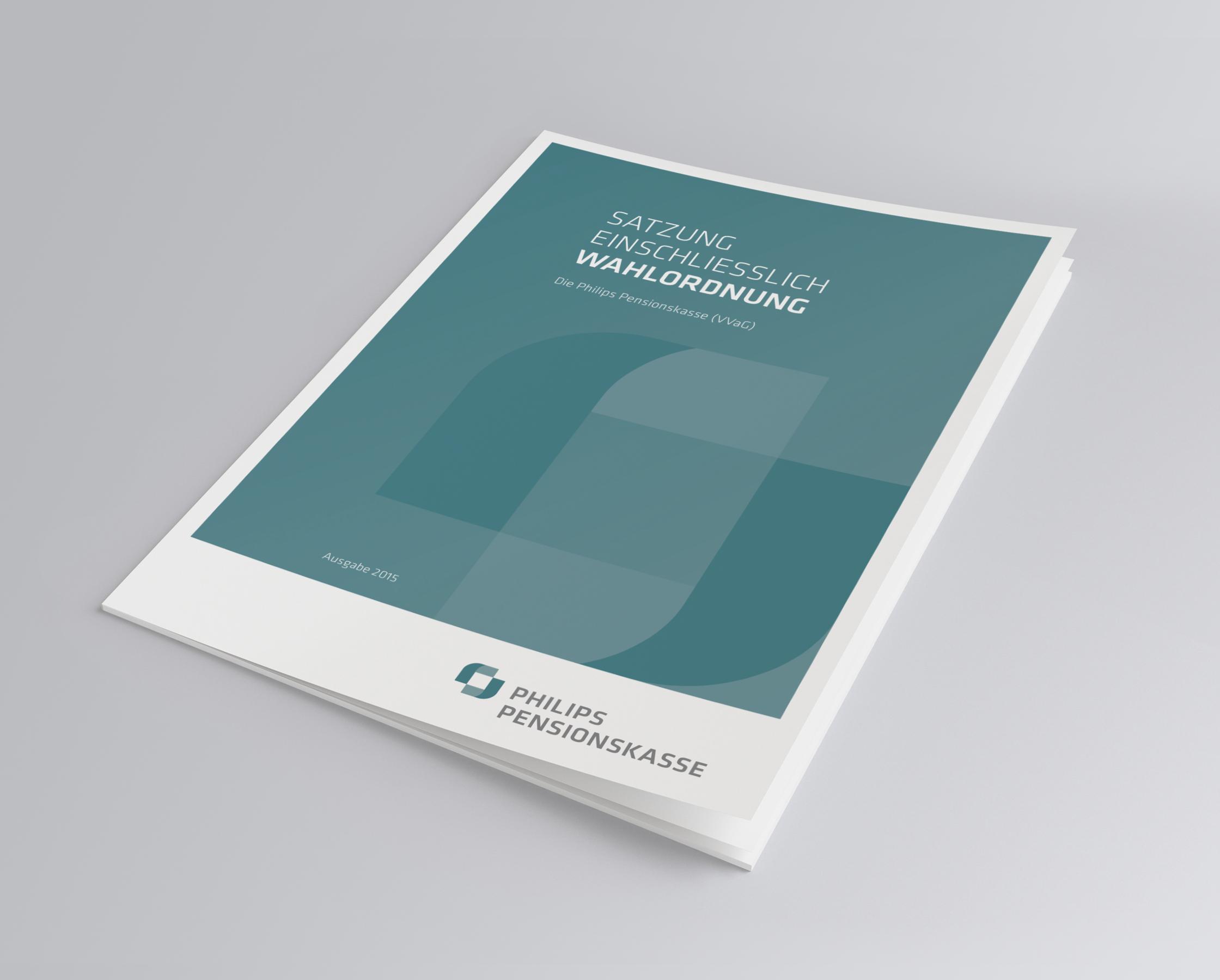 Philips Pensionskasse: CD-Entwicklung von Bosbach, Broschüren-Design