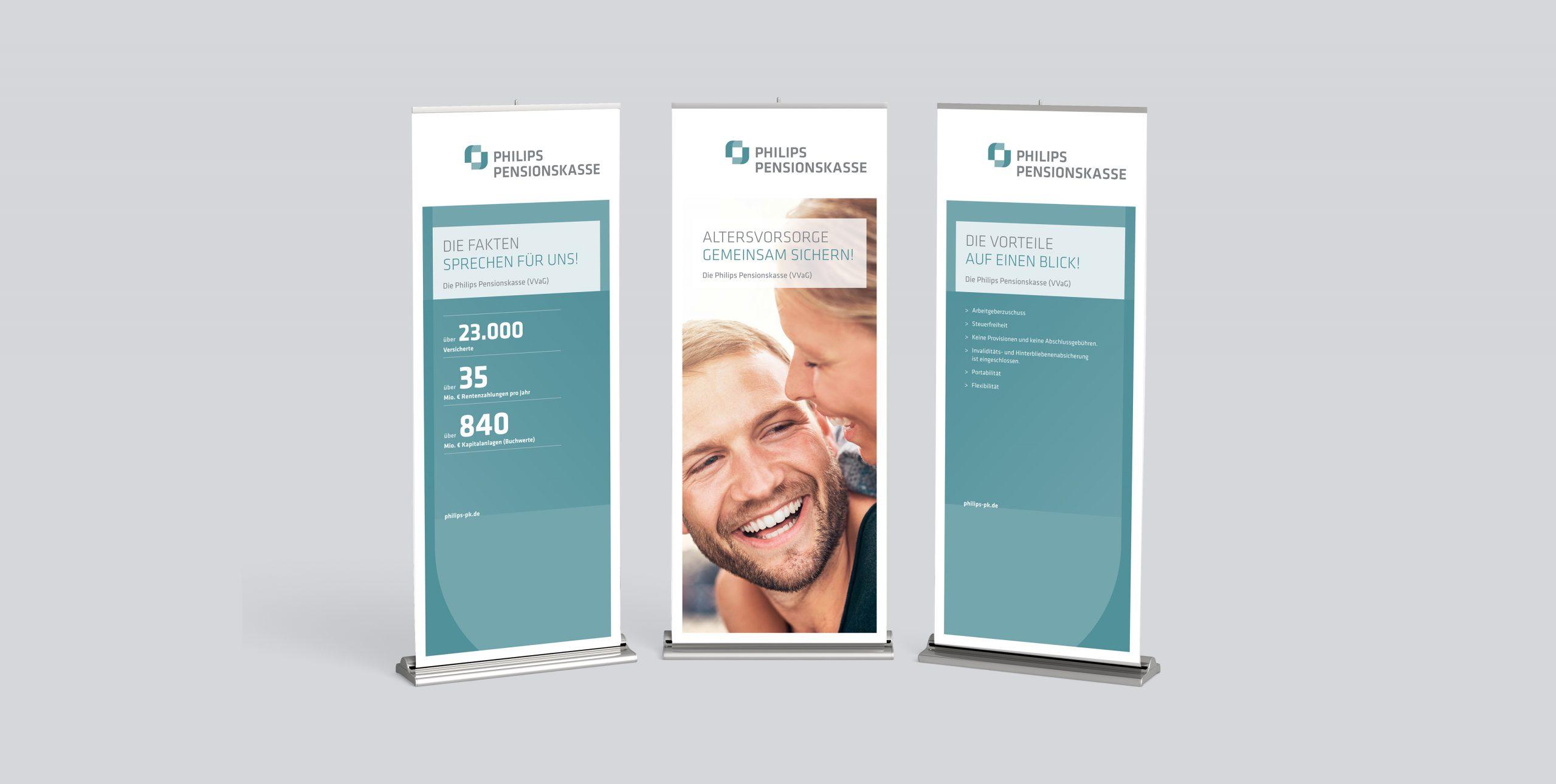 Philips Pensionskasse: CD-Entwicklung von Bosbach, Rollup-Design