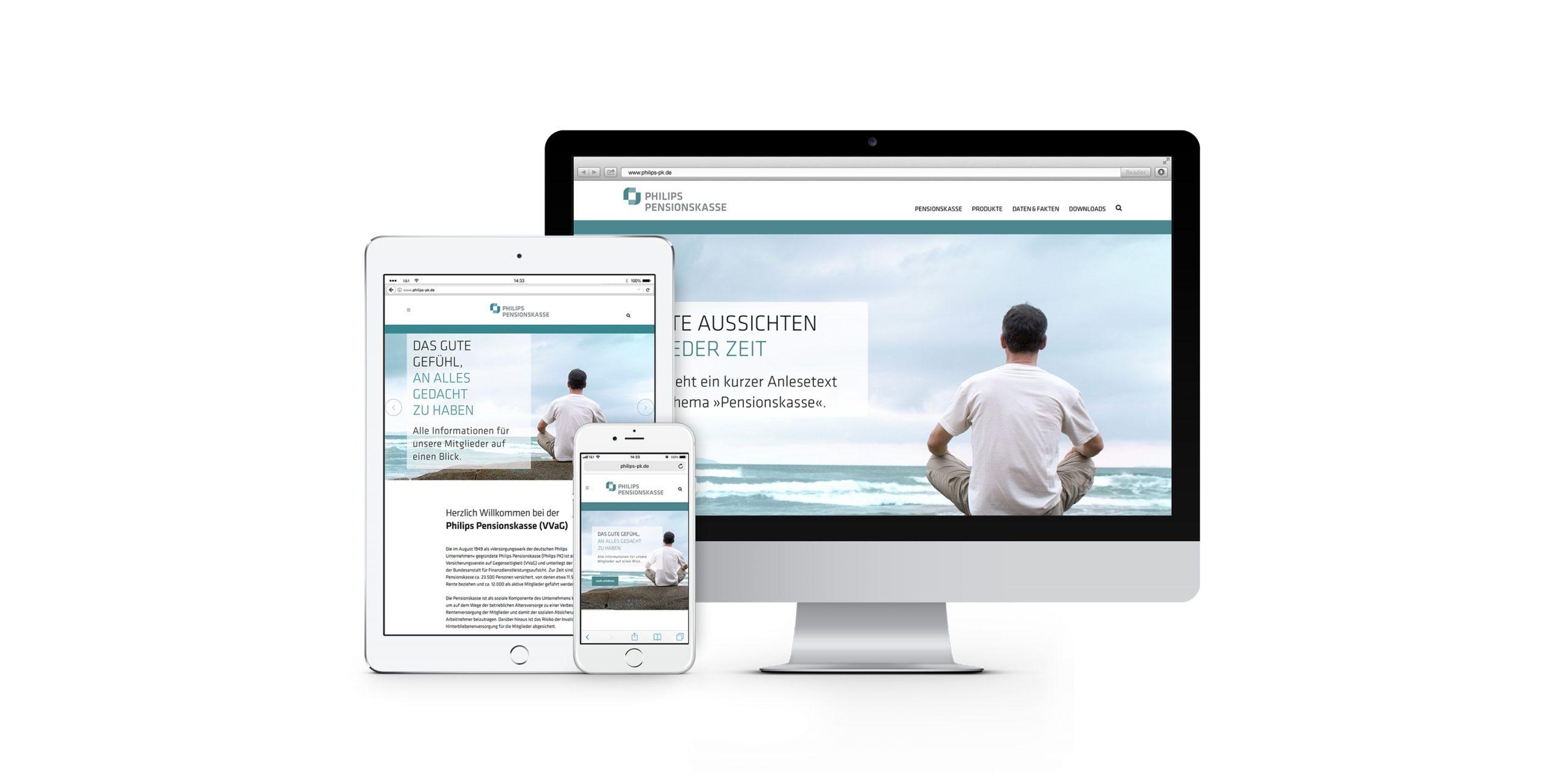 Philips Pensionskasse: Webdesign von Bosbach