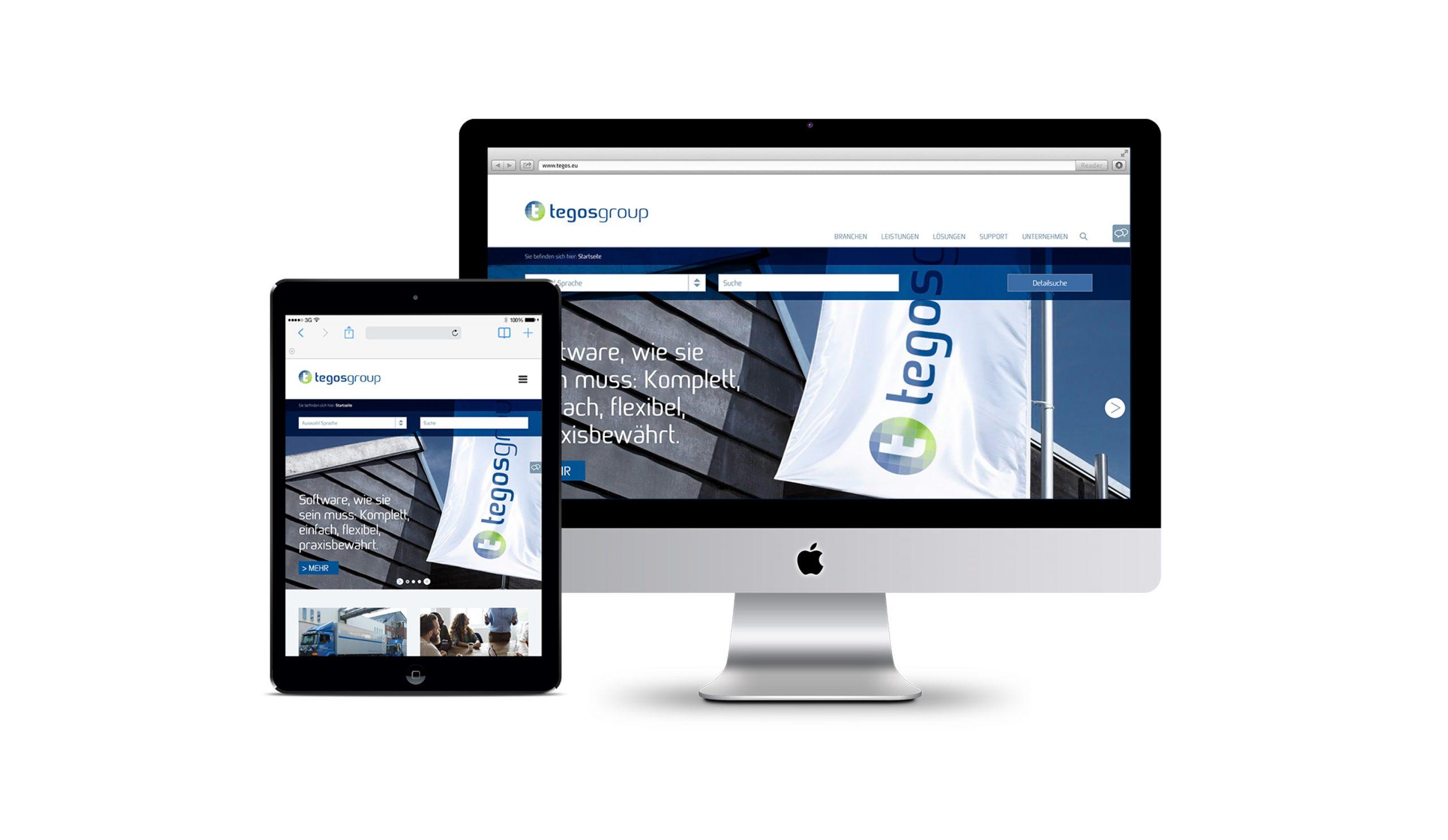 Dachmarken-Konzept Web-Design tegos group Bosbach